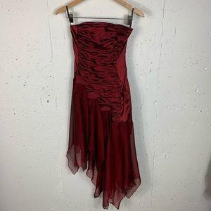 Jessica McClintock Size 2 Ruby Red Dress NEW